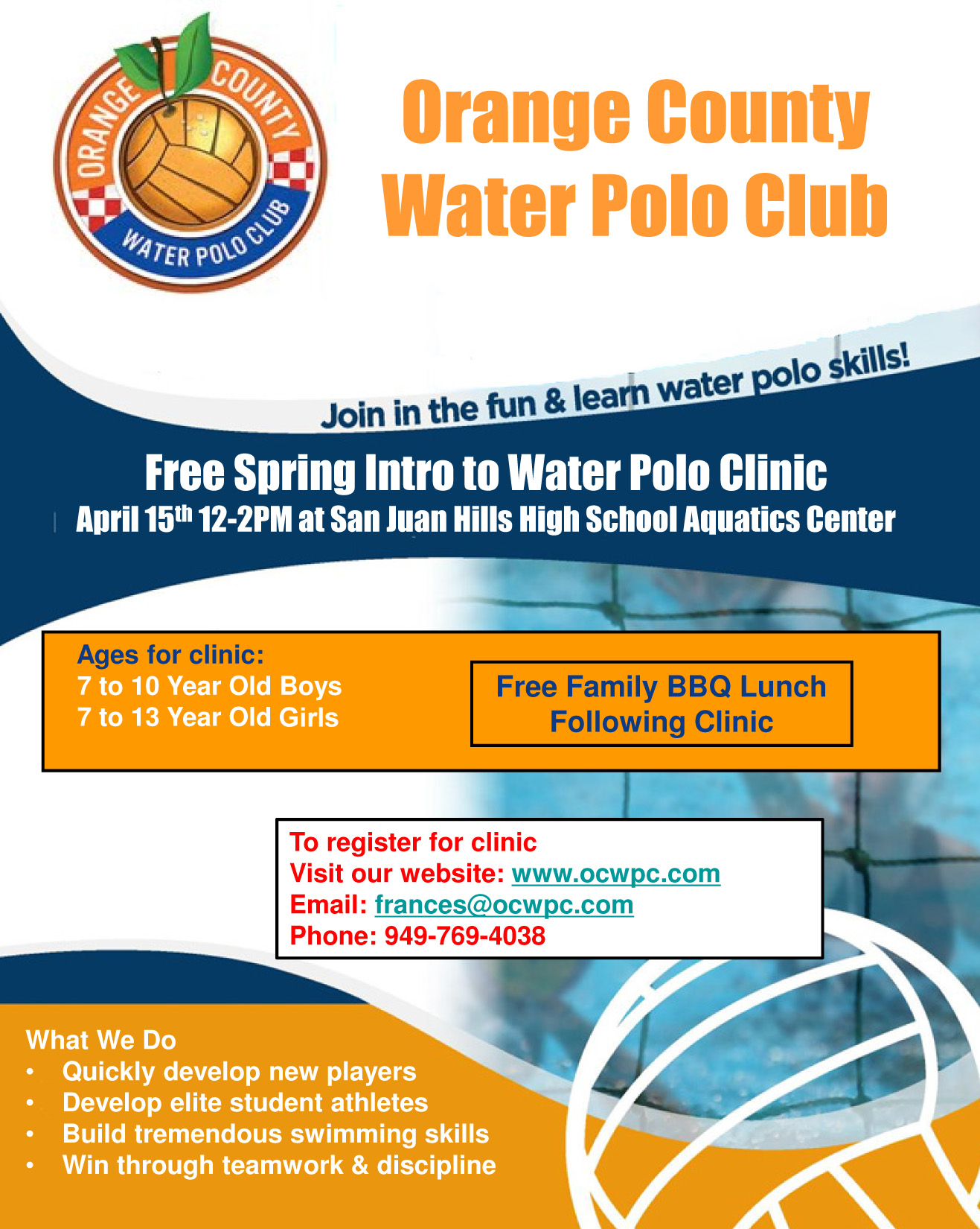 Introduction To Water Gardening: Free Spring Intro To Water Polo Clinic // Saturday, April